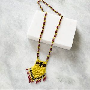 Vintage Hand-Beaded Necklace